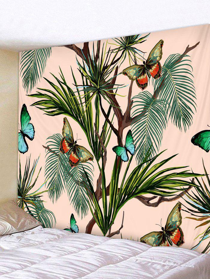 Butterfly Tree Pattern Tapestry Decoration - multicolor W79 INCH * L71 INCH
