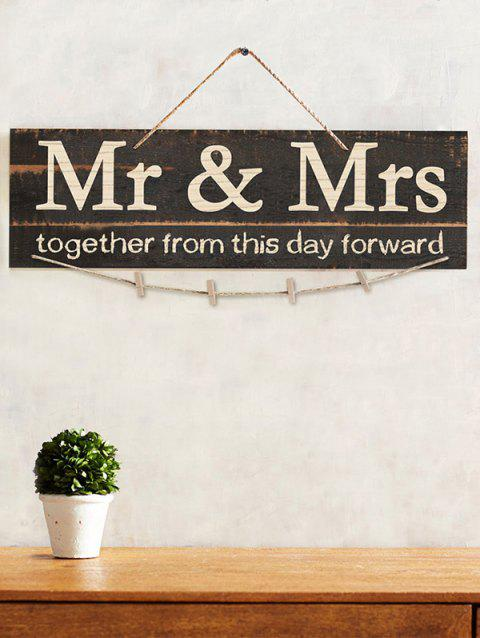 Mr and Mrs Sign Photo Holder Set - BROWN