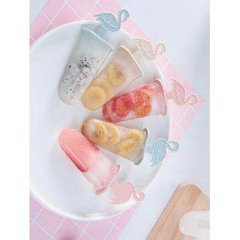 6 Pcs Flamants Formés Popsicle Moules - Transparent