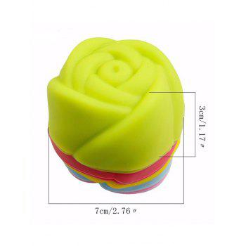 3D Rose Shaped Muffin Cups Cake Molds 6PCS - multicolor