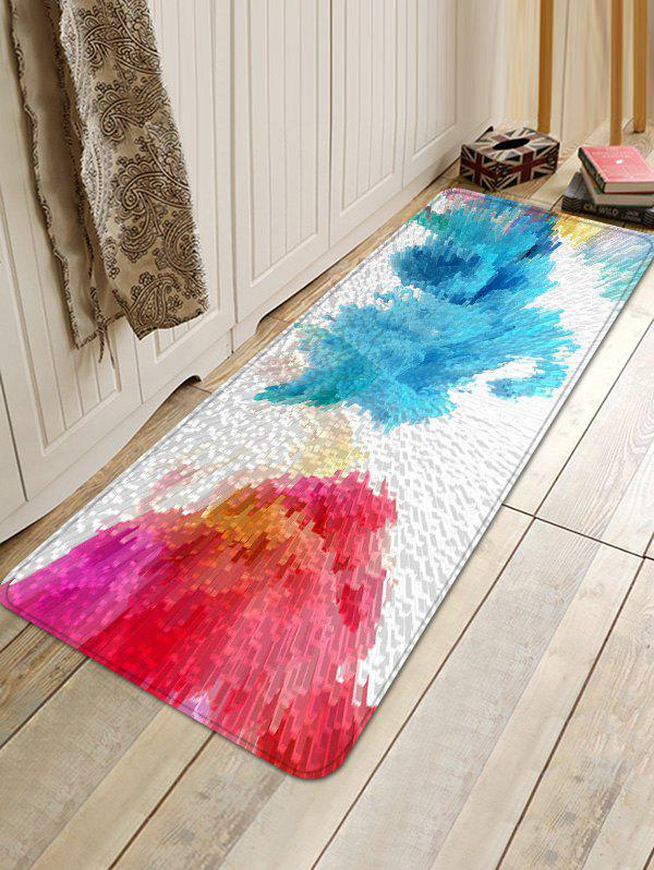 3D Doodles Print Flannel Floor Carpet - multicolor W16 INCH * L47 INCH