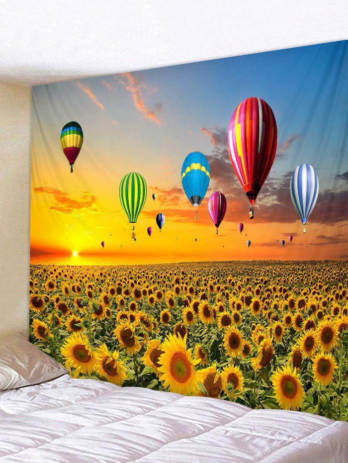 Sunflower Hot Balloon Printed Tapestry Wall Hanging Decoration