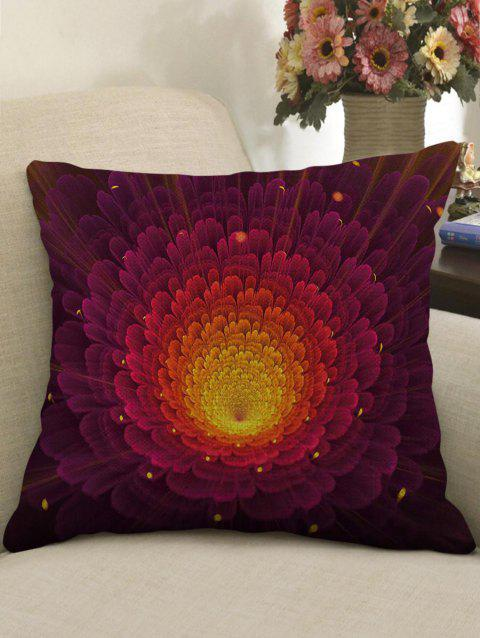 Ombre Flower Print Linen Sofa Pillowcase - multicolor W18 INCH * L18 INCH