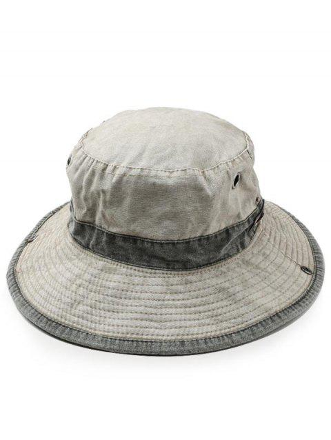 Lightweight Cotton Washed Dyed Adjustable Sun Hat - LIGHT KHAKI