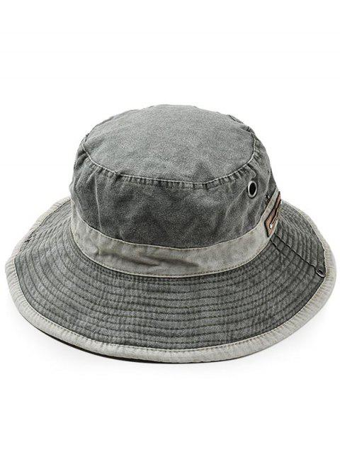 Lightweight Cotton Washed Dyed Adjustable Sun Hat - ARMY GREEN