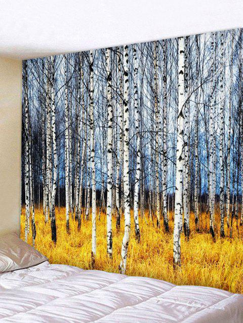 Birch Forest Print Tapestry Wall Art - multicolor W91 INCH * L71 INCH