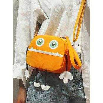 Chic Funny Cartoon Pattern Sling Bag - BEE YELLOW