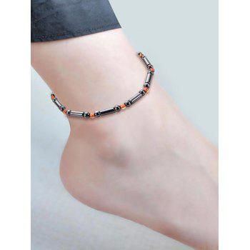 Bead Metal Anklet - BLACK