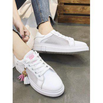 Chic Daily Walking Tassels Breathable Sneakers - LIGHT PINK 39