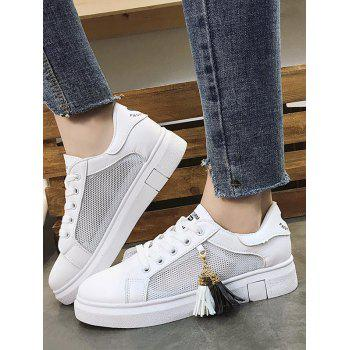 Chic Daily Walking Tassels Breathable Sneakers - BLACK 39