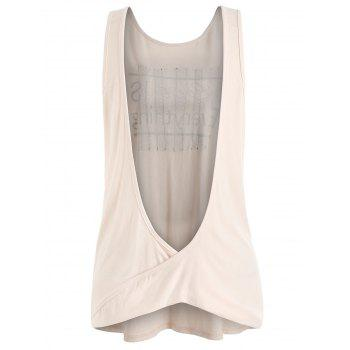 Sleeveless Lace Draped Back Top - PINK BUBBLEGUM L