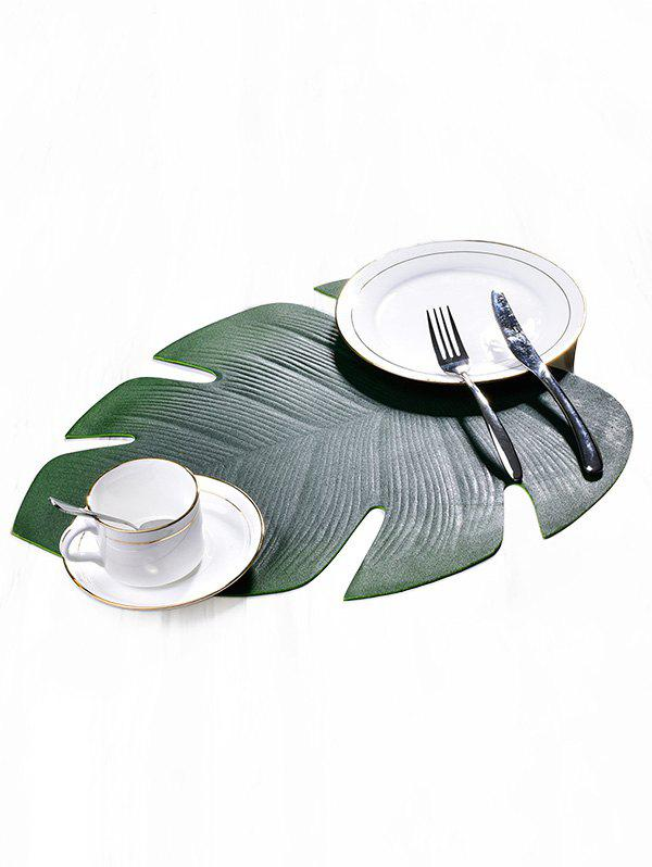 Tropical Leaf Shape Waterproof Oil-proof Placemat - GREEN