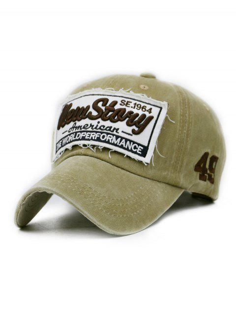 New Story Embroidery Washed Sport Hat - LIGHT KHAKI