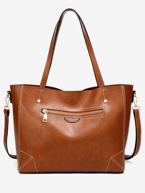 Chic Large Capacity Outdoor Dating Shoulder Bag - LIGHT BROWN