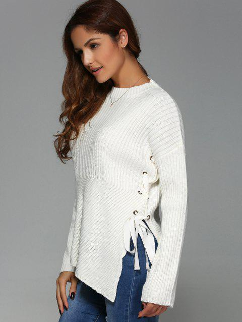 Pullover col rond - Blanc L