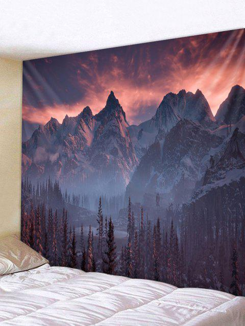 Mountain Forest Pattern Wall Tapestry Decoration - multicolor W59 INCH * L59 INCH