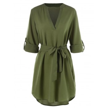 """<P>Belted Casual Dress</P><I Class=""""Icon Down Js Tap Up Down""""></I> by Dress Lily"""