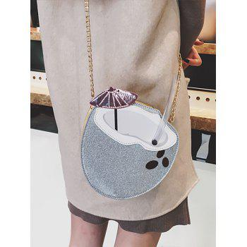 Patchwork Chic Dazzling Sequins Crossbody Bag - SILVER