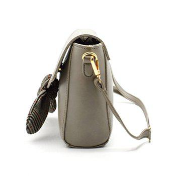 Bowknot Decoration Chic Flapped Crossbody Bag - GRAY