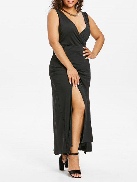 Plus Size Low Cut Maxi Dress