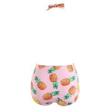 Pineapple Backless Swimsuit - LIGHT PINK M