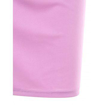 Off Shoulder Bowknot Bodycon Dress - MAUVE L