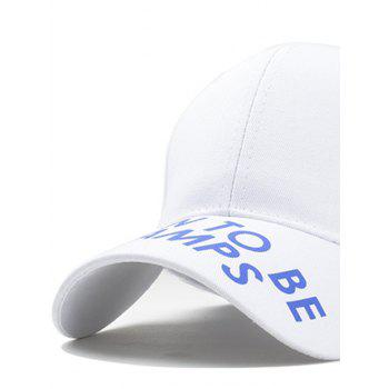 Unique Letter Sentence Decorative Sport Hat - WHITE