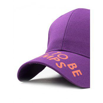 Unique Letter Sentence Decorative Sport Hat - PURPLE