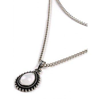 Stylish Multi Layer Water Drop Chain Necklace - SILVER