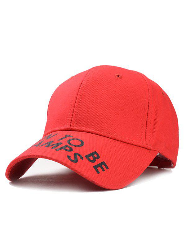 Unique Letter Sentence Decorative Sport Hat - RED
