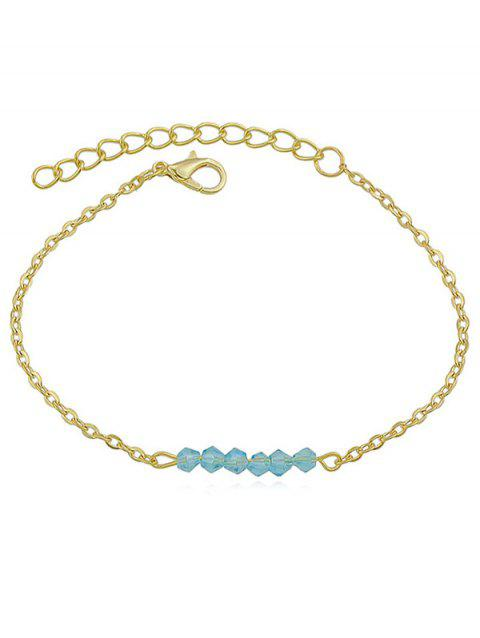 Artificial Crystal Beaded Anklets - BUTTERFLY BLUE