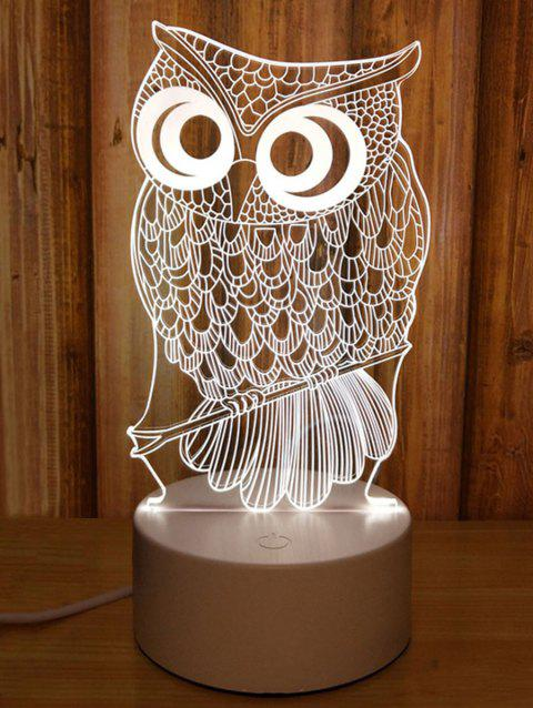 2019 3d Owl 3 Color Changing Table Lamp In Multicolor Dresslily Com