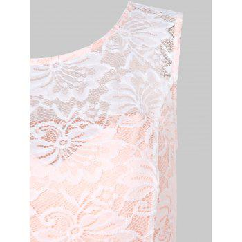 High Low Lace Prom Dress - APRICOT M