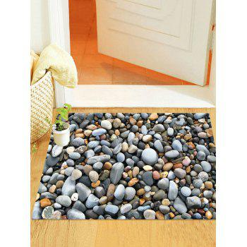 3D Cobblestone Printed Removable Wall Sticker - GRAY