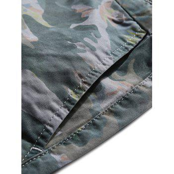 Casual Zip Fly Camo Shorts - BEE YELLOW L