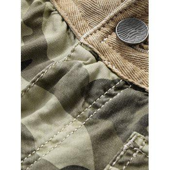 Camouflage Zip Fly Pockets Cargo Shorts - DARK FOREST GREEN 2XL