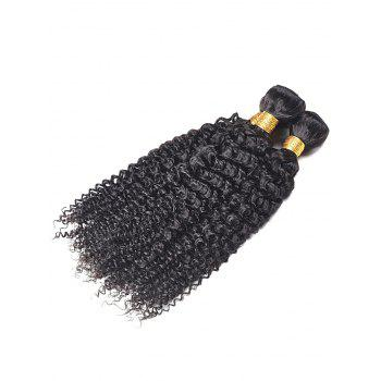 3Pcs Kinky Curly Human Hair Weaves - BLACK 10INCH*10INCH*10INCH