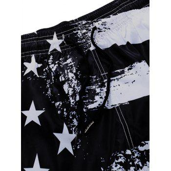 Stripes and Stars Print Quick Dry Board - BLACK XL
