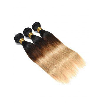Human Hair Ombre Straight Hair Weaves - multicolor 20INCH*20INCH*20INCH