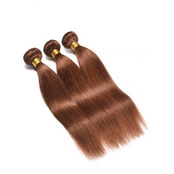 Indian Real Human Hair Straight Hair Weaves - PUCE 14INCH*14INCH*14INCH
