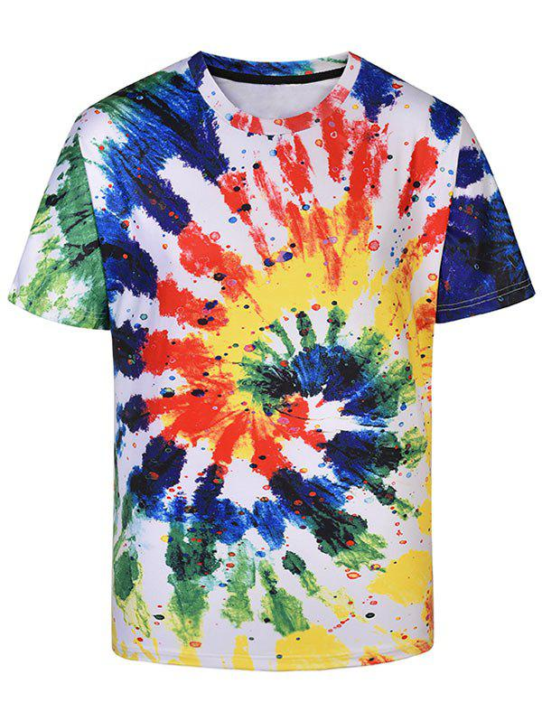 3D Graffiti Swirls Print Short Sleeve T-shirt