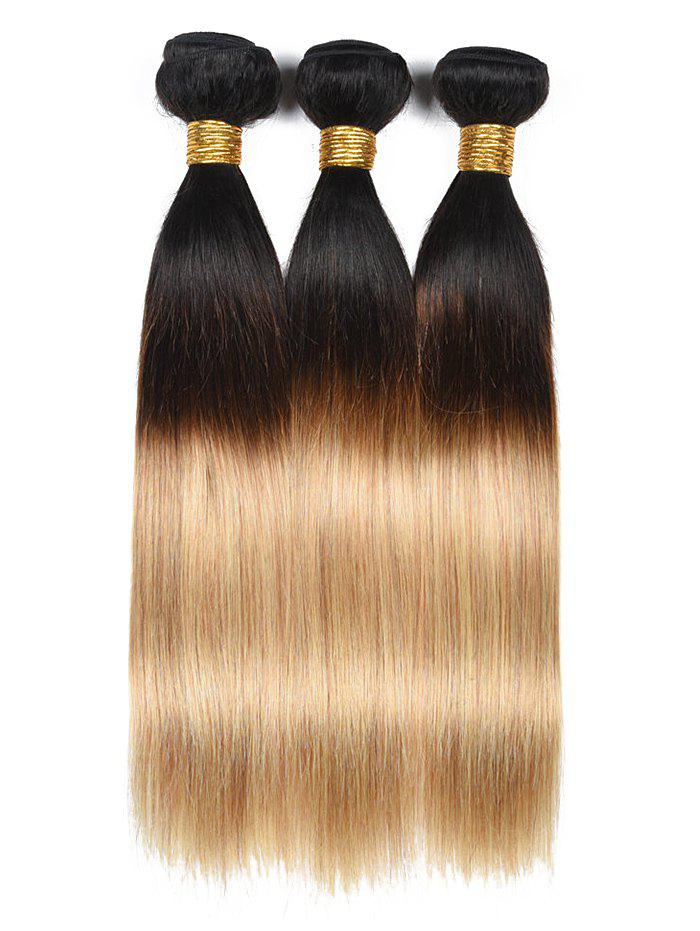 2018 Human Hair Ombre Straight Hair Weaves Multicolor Inch Inch Inch