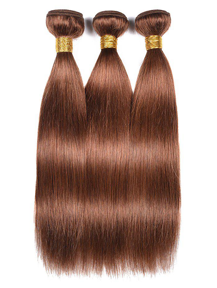 2018 Indian Real Human Hair Straight Hair Weaves Puce Inch Inch Inch