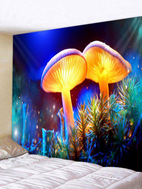 Magic Mushroom Pattern Wall Tapestry Hanging Decor - multicolor W91 INCH * L71 INCH