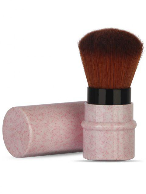 Multipurpose Extra Soft Synthetic Fiber Hair Telescoping Cosmetic Brush - PIG PINK