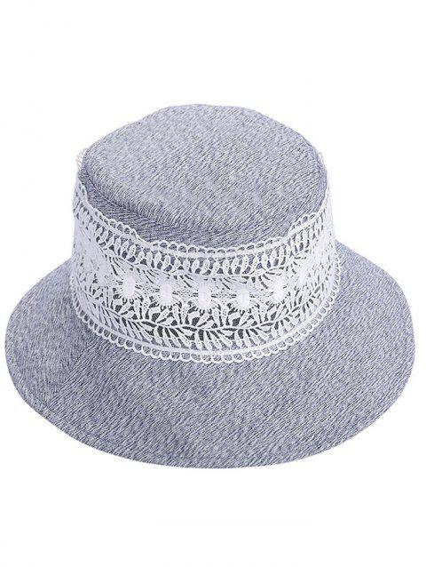 LIMITED OFFER  2019 UV Protection Wide Brim Lace Bucket Hat In BLUE ... ecb7dbaa4621