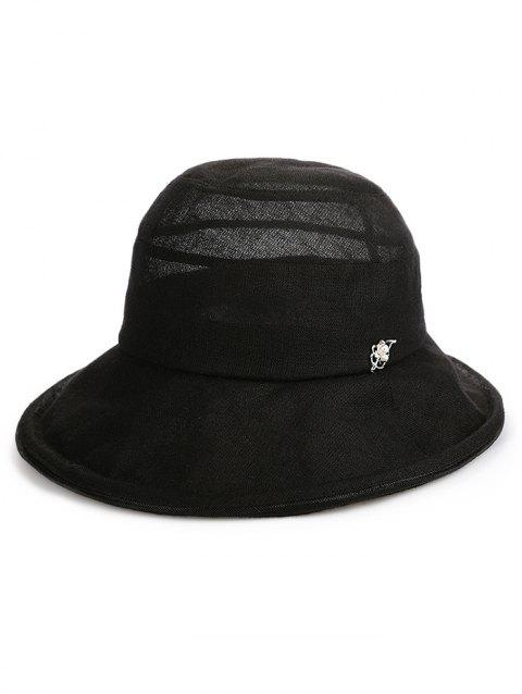 Lightweight Wide Brim Bucket Sun Hat - BLACK