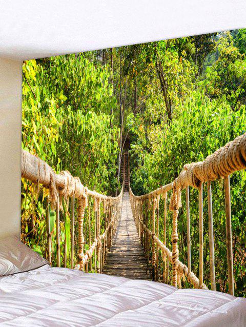 Tree Bridge Pattern Wall Tapestry Hanging Decor - JUNGLE GREEN W59 INCH * L51 INCH