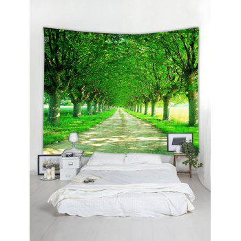 Avenue Trees Print Tapestry Wall Art   FOREST GREEN W79 INCH * L59 INCH