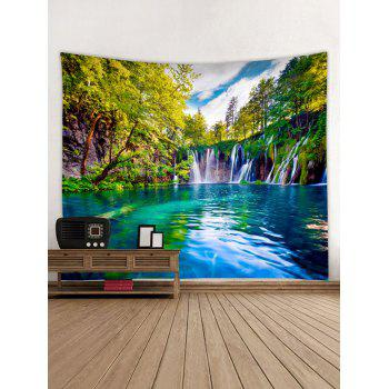 Natural Scene Pattern Wall Tapestry Hanging Decor - multicolor W59 INCH * L51 INCH